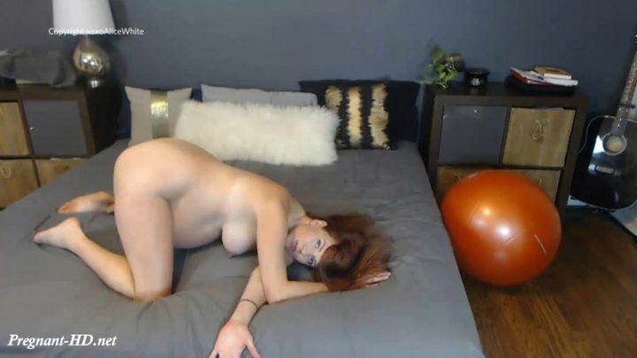 39 Wks Pregnant Naked Stretching – Alice White