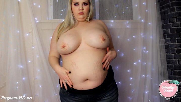 Pregnant BBW Full Nude Strip & Cum – Penelope Peach