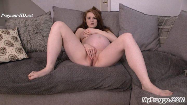 Aria's Seductive Striptease Leads to Masturbation! – MyPreggo – Aria