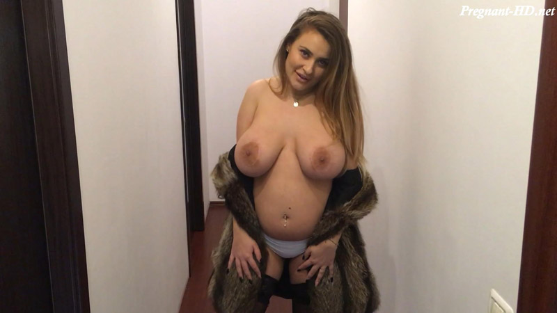 Fur and stockings on pregnant perfection – PregnantDoll