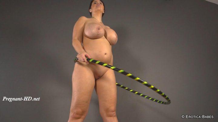 KylieK pregnant hula hoop – EroticaBabes