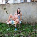 33 Weeks Pregnant Backyard Fun – Elisha4ubbb