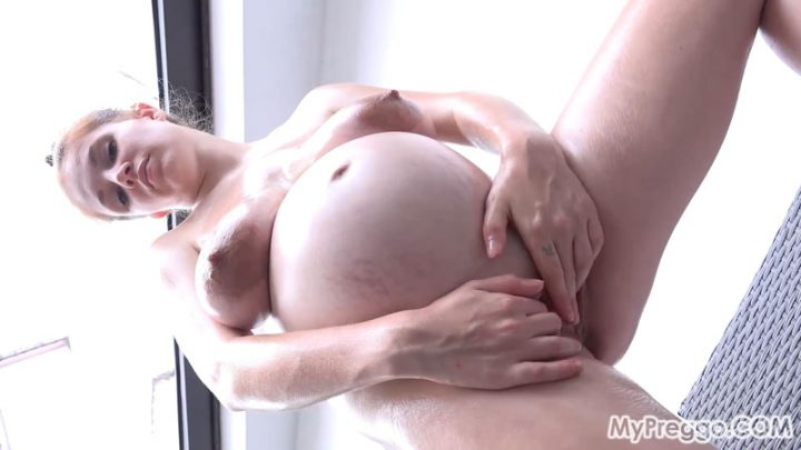 Angel Oils Up Her Naked, Pregnant Body! – MyPreggo – Angel