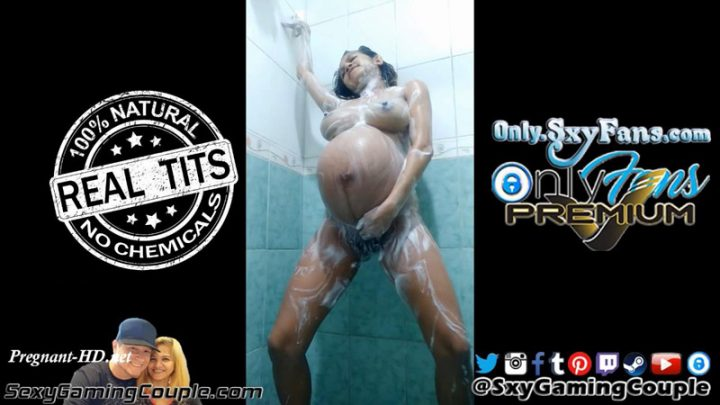 Asian Pregnant Soapy Shower Orgasm Then Has Contractions & Simulates Birth – SxyGamingCouple