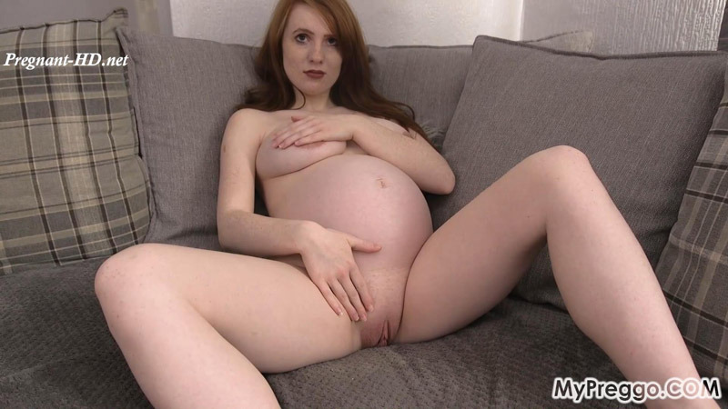 Gorgeous Aria Strips Naked and Masturbates! – MyPreggo – Aria