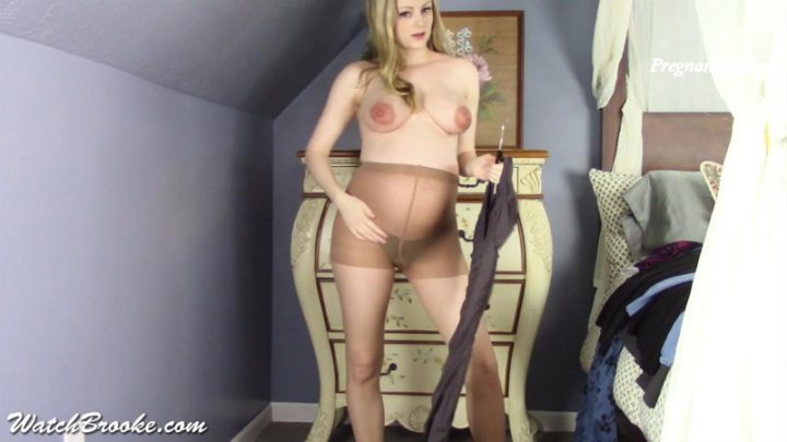 Pregnant Clothing Strip Tease – Brooke Marie