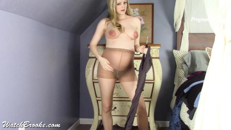 Pregnant Clothing Strip Tease – Brooke Marie