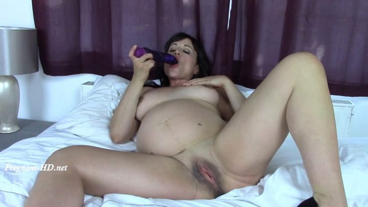 Pregnant Lucy Toys her Pussy – Simon Bee Glamour