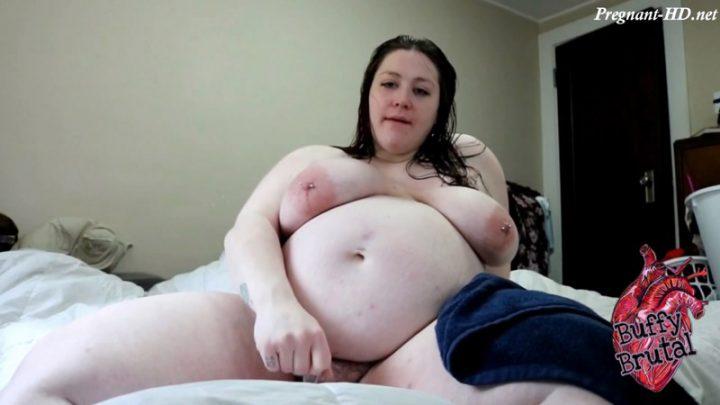 9 Months Pregnant Post Shower Orgasm – BuffyBrutal