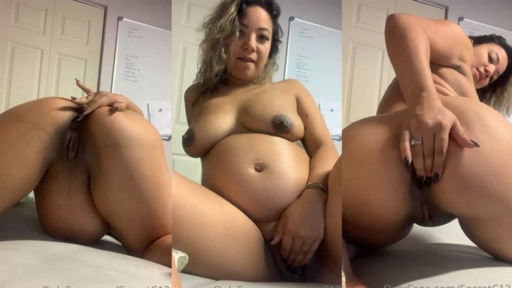 Fan Video 6 – Pregnant Masturbation Pleasure And Anal Play – Secretc12