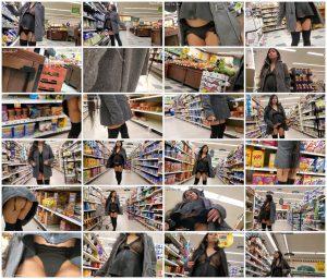 See-Thru Bottomless Pregnant Shopping – Lola DeLaRosa_thumb