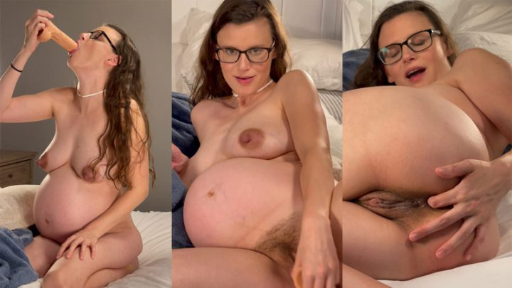 Pregnant Priss Dildo Play BJ, Pussy Fuck – Pregnant Priss
