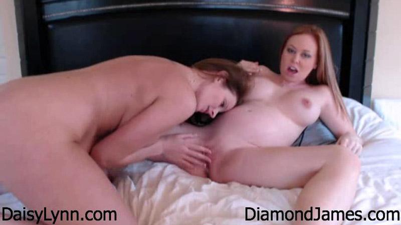 26 Weeks Pregnant – Lesbian Sex w Daisy Lynn – Diamond James