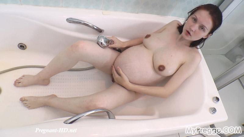 An Intense Bathtub Orgasm Triggers Painful Contractions! – MyPreggo – Anastasiya
