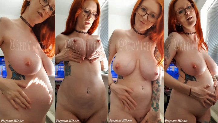 Pregnant – 21 weeks belly and heavy tits – RedV1xen