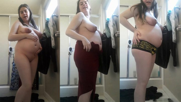 Prepregnancy clothes try on 24 weeks – AffectionateKitty
