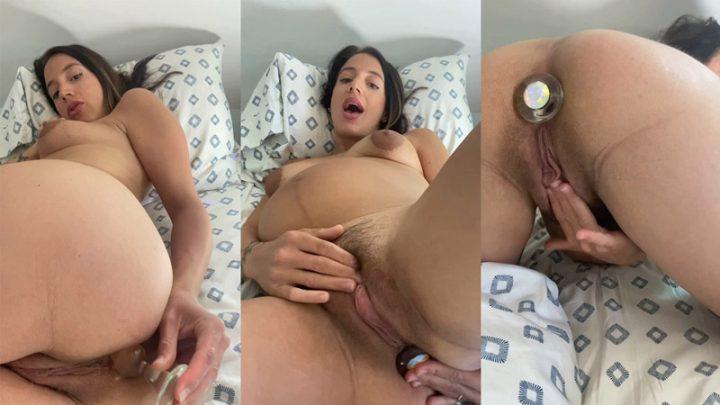 Pregnant Milf – Ass Play – MorningGloryModel